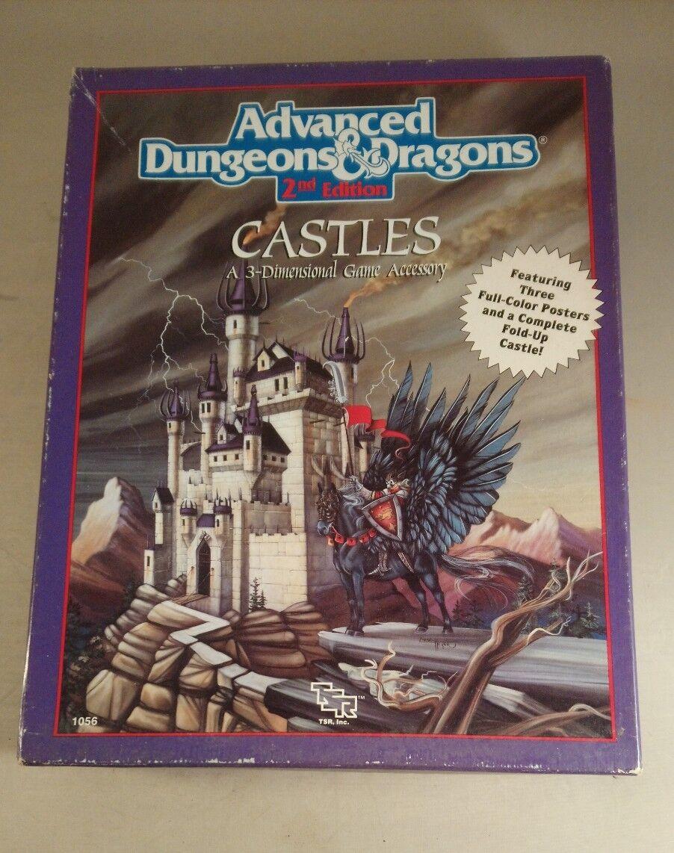 D&D CASTLES Advanced Dungeons & Dragons TSR 1056 Forgotten incomplete