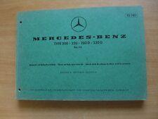 Ersatzteile Katalog Mercedes-Benz 200 220 200D 220D (1968)