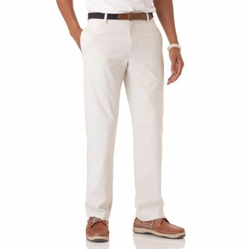 36 Pants 34 38 40 Twill 32 Straight Front Chaps Classic Flat Cotton New Mens EvqxzHwA