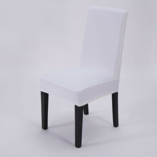 Solid Color Stretch Dining Chair Covers Chair Protector Slipcover Decor Spandex