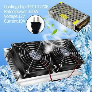 Thermoelectric Peltier Refrigeration Cooling System Radiator Cooler w/110V Power