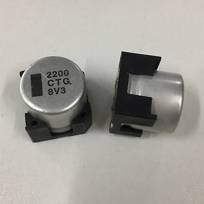 5pcs 16V 2200uF 16V Panasonic TG 16x16.5mm SMD Chip type Electrolytic Capacitor