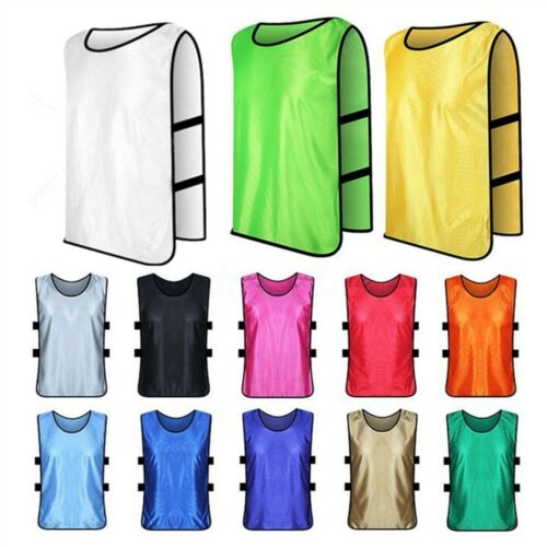 10x Kids Adult Running Soccer Vest Training Bibs Football Basketball Sport AU