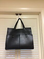 Zara Open Black Pocket Heavy Shopper Tote Bag Size Large