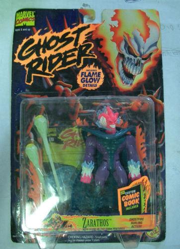 Ghost rider zarathos flamme brillo 1995 toybiz moc de