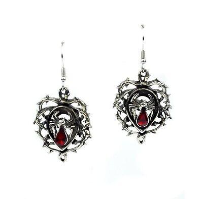 Thorn Vine Swarvoski Spider Gothic Earrings Jewelry Punk Deathrock Rockabilly