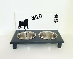 Bol pour chien, barre alimentaire, vadrouilles, blanc / charbon, 2 x 1500 ml