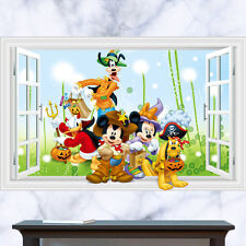 Disney Wall Sticker, Mickey, Minnie Mouse, Halloween, Pumpkin, Fancy Dress