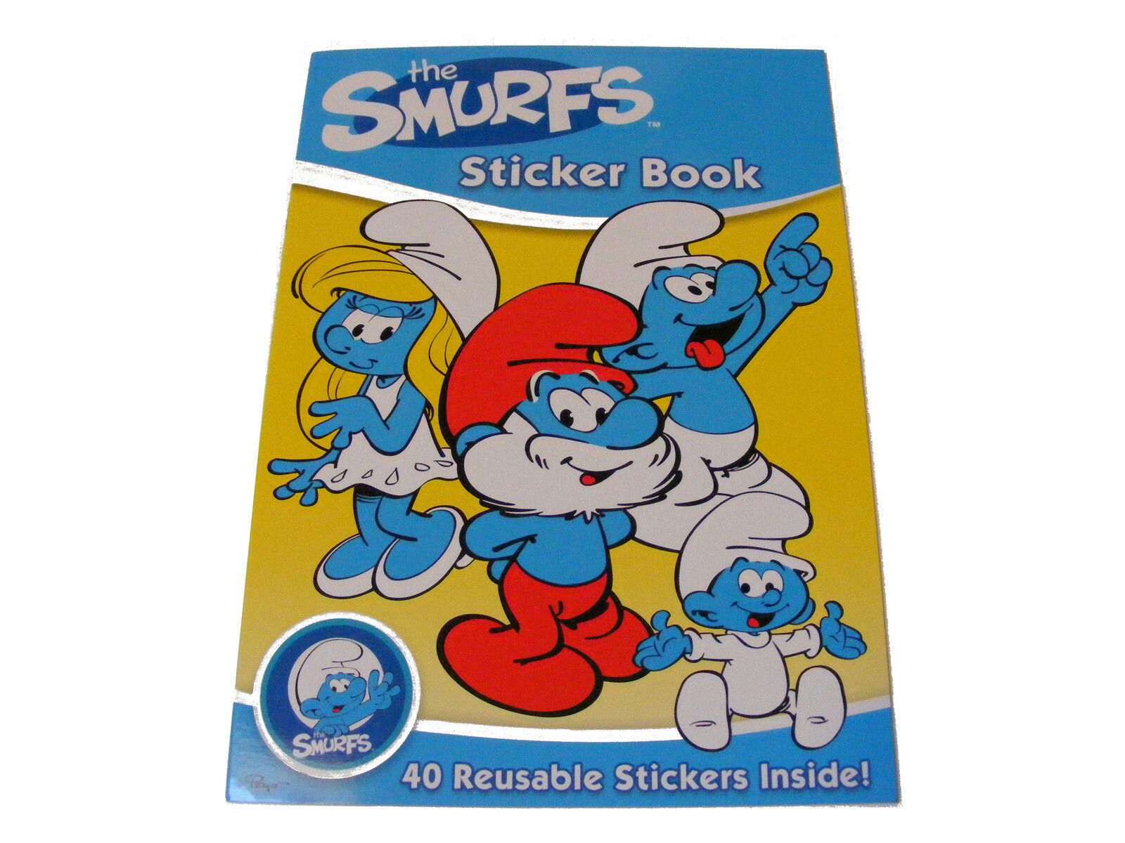 CHILDRENS KIDS THE SMURFS STICKER BOOK WITH 40 REUSABLE STICKERS