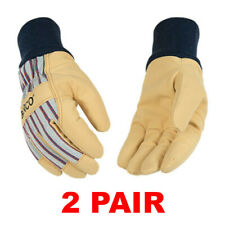 Kinco 1927kw Insulated Leather Winter Work Gloves With Knit Wrist 2 Pair Sm Xl