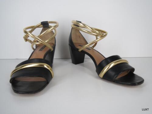 Rachel Zoe Heels Sandals Size 8 Black Metallic Gol