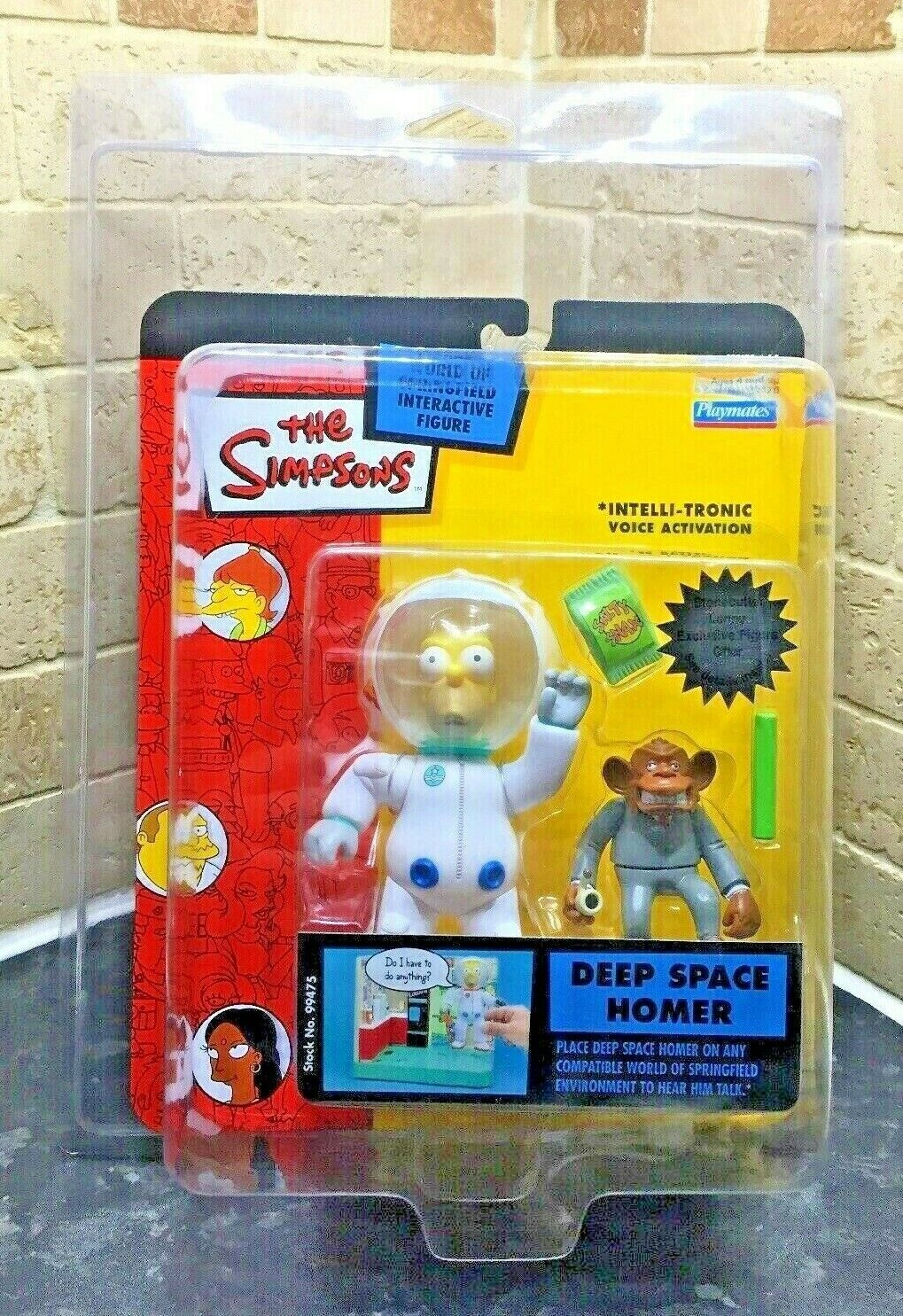 The Simpsons Deep Space Homer WOS figure World Of Springfield Zoloworld Case