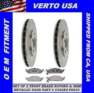 Verto USA Set Of 2 Front Disc Brake Rotors  53005X2