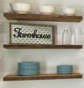 Canadian Made Reclaimed Barn Board Rustic Floating Wall Mounting Shelves - FREE SHIPPING Ontario Preview