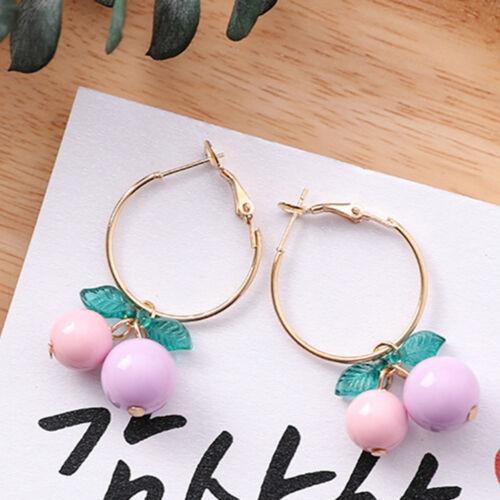 Sweet Cherry Drop Earrings Women Hoop Earrings Women Accessories Delicate Gift