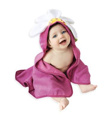 Sozo Baby Hooded Bath Towel Flower Ladybug 30 x 30 NWT 100/% Cotton Pink Gift