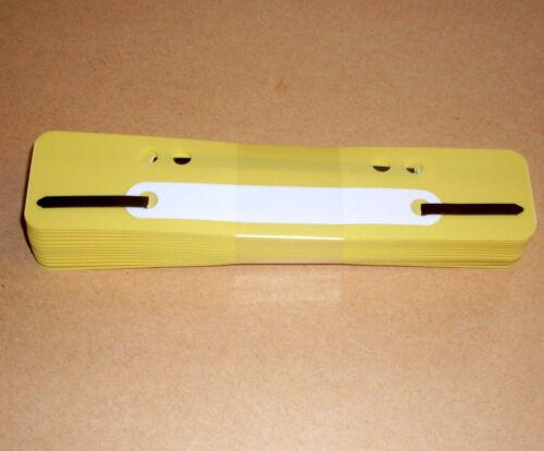 25 Heftstreifen gelb Heftrücken Heftschienen Abheften Abheftstreifen 35 x 150
