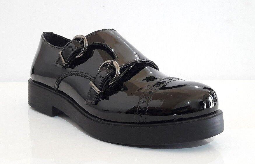 zapatos mujer KEYS 8127 VERNICE VERNICE VERNICE negro 36 FIBBIA FRANCESINE INVERNO MADE IN ITALY 4f9567