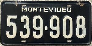 GENUINE-Uruguay-Montevideo-License-Licence-Number-Plate-539-908