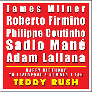 Image Is Loading LIVERPOOL FC PERSONALISED BIRTHDAY CARD TYPOGRAPHY