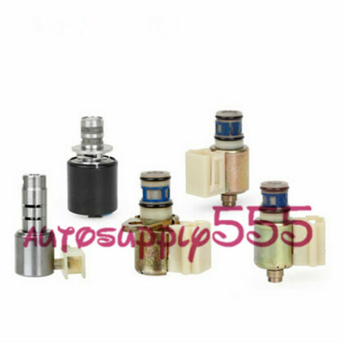 New 5PCS 4L30E Transmission Solenoid Set Shift TCC EPC For 1993-1999 GM Isuzu