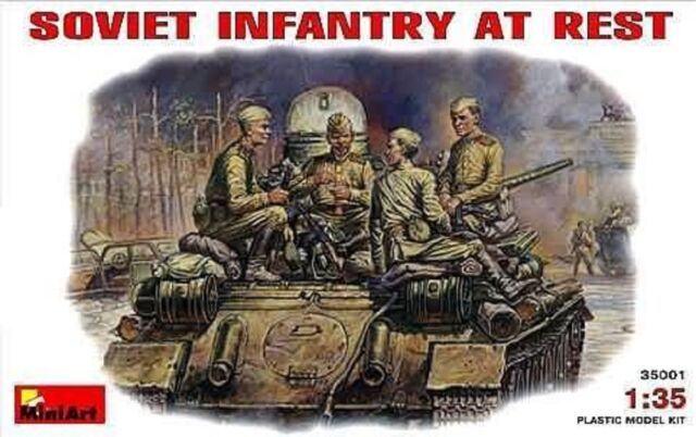 Kit Modello MIN35001 - Miniart 1:3 5 - Soviet Infantry At Rest