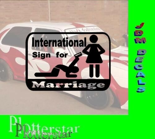 International sign for Marriage Hater Bitch Heiraten JDM Sticker Aufkleber