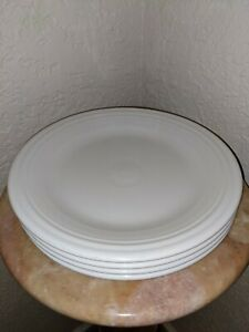 """Fiestaware Dinner Plates 10 1/2"""" White Set Of 4, Excellent Condition"""