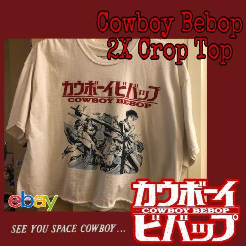 Cowboy Bebop Group White Crop Top Size 2XL Anime A