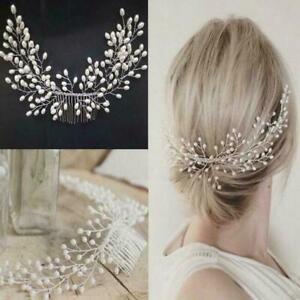 Women-Tiara-Bridal-Hair-Comb-Wedding-Headwear-Hair-Accessories-I4Q7