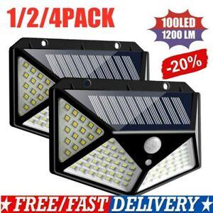 100-LED-Solar-Power-Light-PIR-Motion-Sensor-Security-Outdoor-Garden-Wall-Lamp-TA