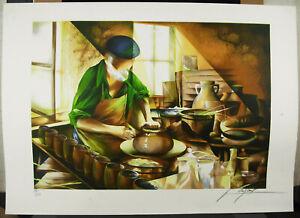 Raymond-Poulet-The-Potier-Potter-Ceramist-1980-Print-Signed-amp-Num-230-225