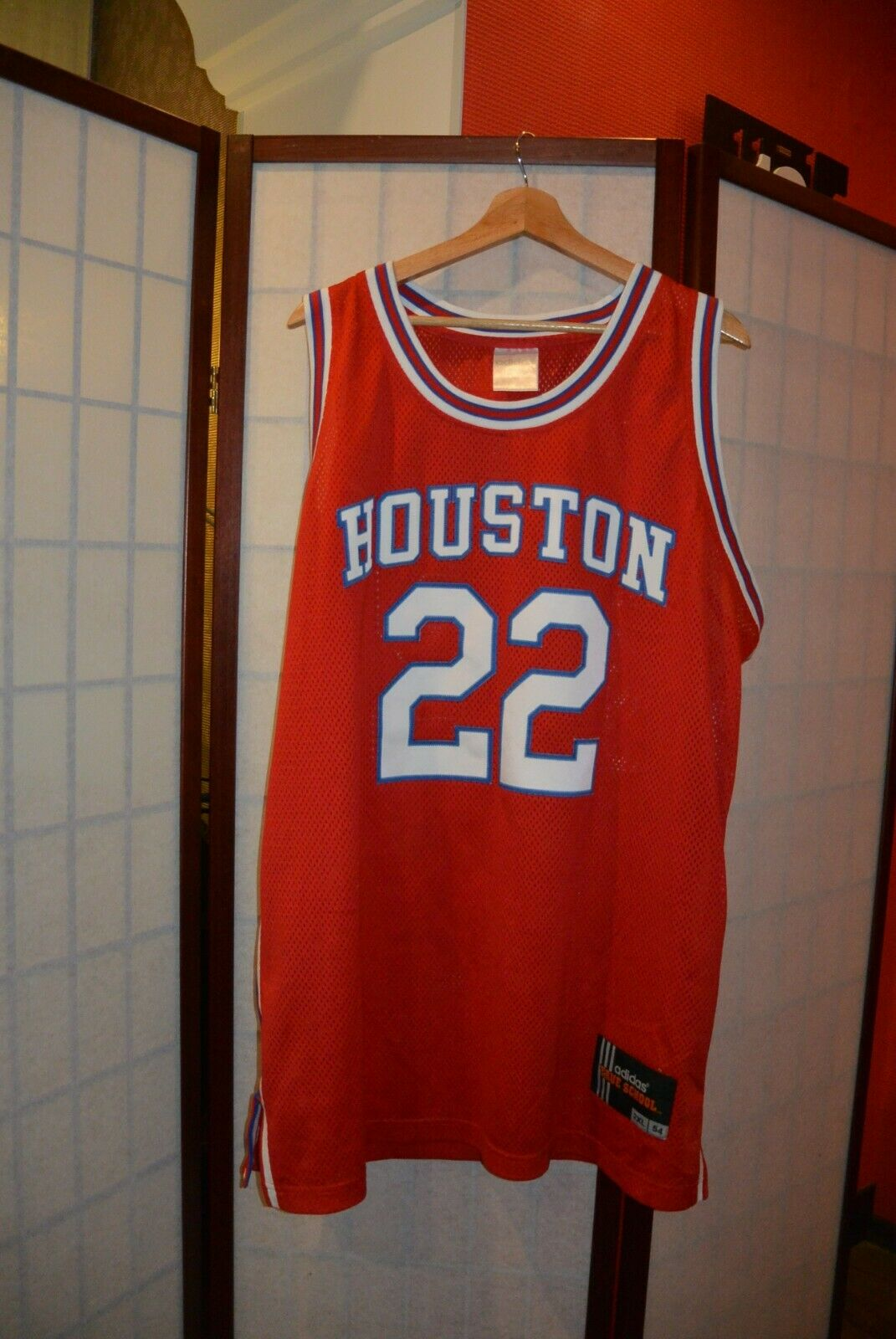 Houston Cougars    22 Clyde Drexler NCAA  Adidas basketball shirt 2XL .ALY