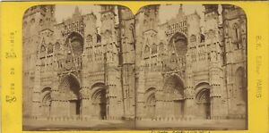 Saint-Ouen Da Rouen Francia Foto Stereo BK Parigi Vintage Albumina Ca 1870