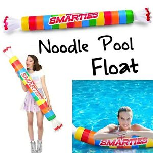 Smarties Roll Inflatable Swimming Pool Noodle Float Big Mouth Toys Over 5 Ft Ebay