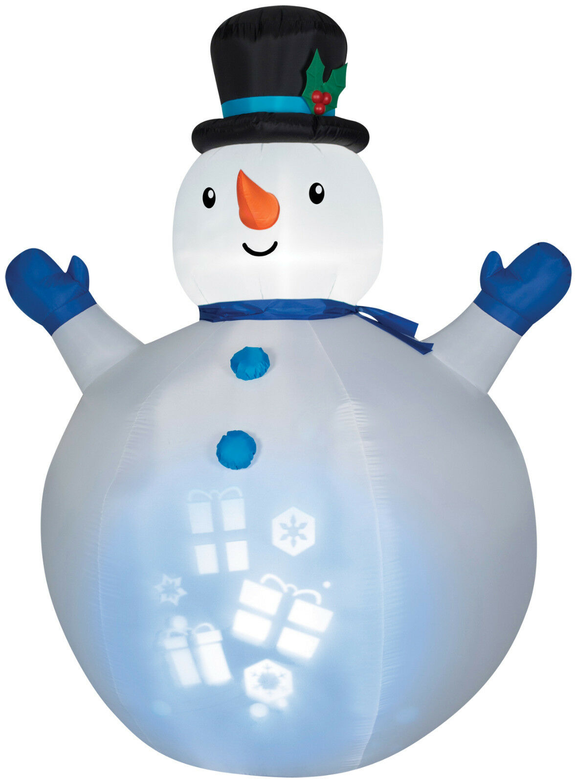 CHRISTMAS CHRISTMAS CHRISTMAS SANTA PROJECTION SNOWMAN  AIRBLOWN INFLATABLE YARD DECORATION c6cef5