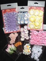 210 Flowers Lot Assortment Petals Petal Leaf Handmade Mulberry Paper Fabric 10