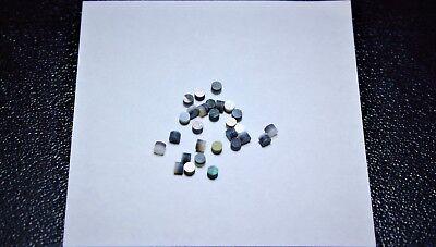 6.00 mm 1 set of 12pcs inlay material Black MOP dots