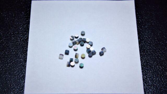 1 inlay set of 12pcs inlay material Arizona Turquoise Stone dots 4.0 mm