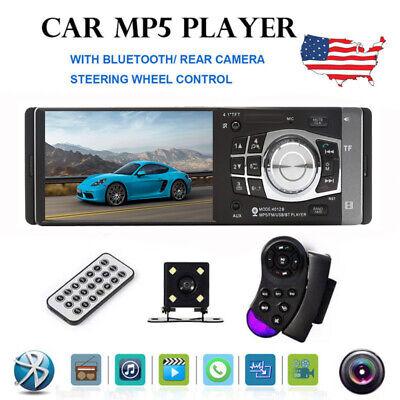 "4.1/"" HD Single 1DIN Car Stereo Video MP5 Player Bluetooth FM Radio AUX USB SD TF"