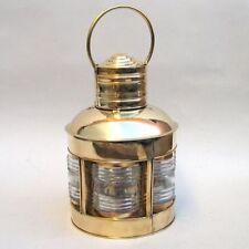Brass Lighthouse Lantern ~ 5 Sided w/ Clear Fresnel Lenses ~ Nautical Maritime