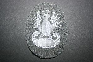 BERET BADGE BULLION WIRE #4 POLISH POLAND WW2 OFFICER/'S OFFICERS CAP