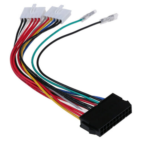 20P ATX To 2 Port 6Pin AT PSU Converter Power Cable For Computer 286 386 486