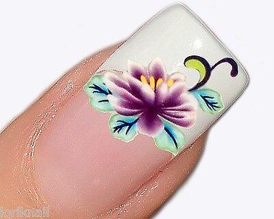 Nail Art Sticker Aufkleber für Nageldesign Modellage Blümchen in Violett PT045