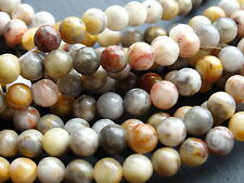 "BAMBOO LEAF JASPER 6mm, 15.5"" string, approx 62 beads"