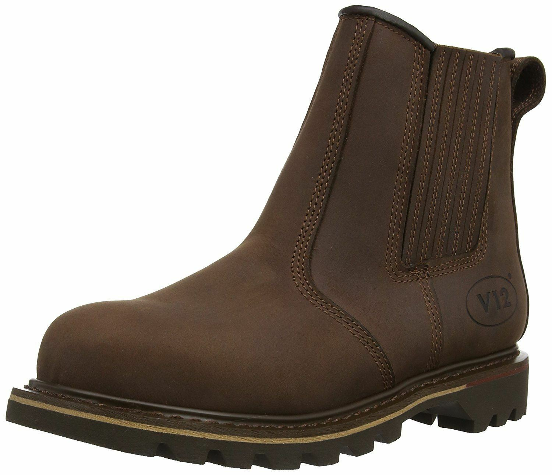 V12 V1231 Rawhide Brown Oiled Leather Dealer Boot (Work Outdoors)
