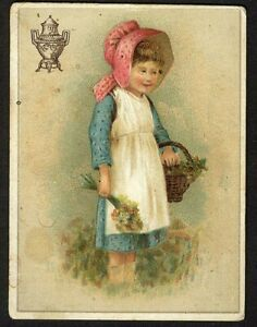 Little Girl DILWORTH'S COFFEE Victorian Trade Card POT URN 1880's