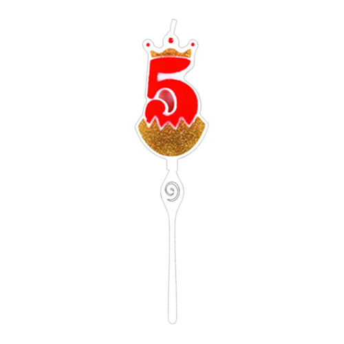 Party Decoration Digital Candle Happy Birthday Cake Topper Crown Cake Candle