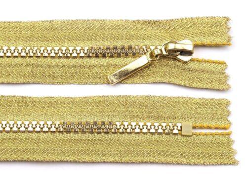 1 Reißverschlüsse 18cm gold Reißverschluss