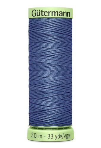 Gutermann Col 30 M 112 Top Stitch Heavy Duty Polyester Fil à coudre Bleu